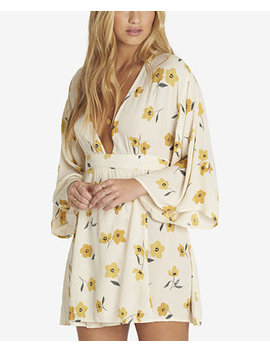 Juniors' Relax On High Printed Wrap Front Dress by Billabong