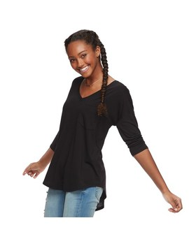 Juniors' So® Relaxed V Neck Tunic Tee by Juniors' So