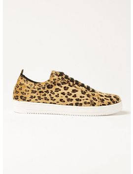 Tan Leopard Saint Sneakers by Topman