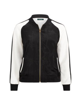 Two Tone Bomber Jacket by Ralph Lauren