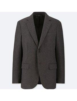 Men Wool Flannel Slim Fit Jacket by Uniqlo
