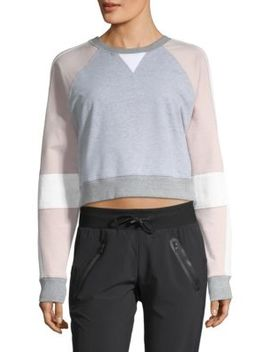 Flashback Crop Sweatshirt by Blanc Noir