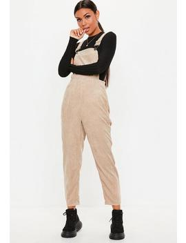 Stone Cord Dungaree Jumpsuit by Missguided