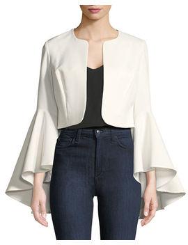 Ruffle Sleeve Crop Blazer by Alberto Makali