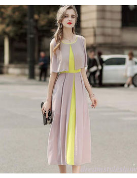 Summer Women A Line Boho High Waist Sleeveless Peplum Maxi Long Slim Party Dress by Dreamstyleshow