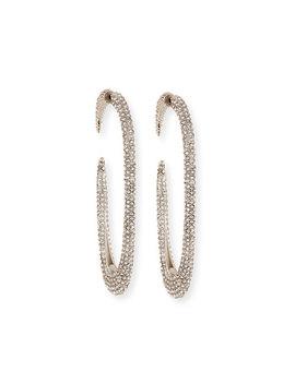 Large Crystal Hoop Earrings by Saint Laurent
