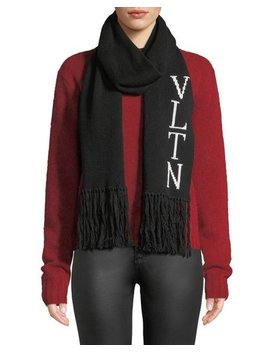 Vltn Knitted Scarf by Valentino