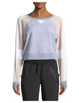 Flashback Colorblock Cropped Sweatshirt by Neiman Marcus