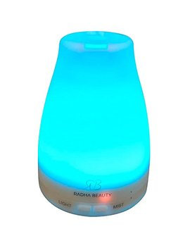 Essential Oil Diffuser 160 Ml For Longer Mist   Cool Mist Aromatherapy With 7 Changing Colored Led Lights, Auto Shut Off, And Adjustable Mist Modes By... by Radha Beauty