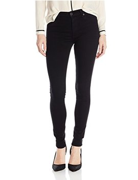 Hudson Women's Barbara High Rise Skinny Jean In Black by Hudson