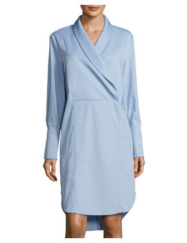 Make You Stay Long Sleeve Shirtdress by C/Meo