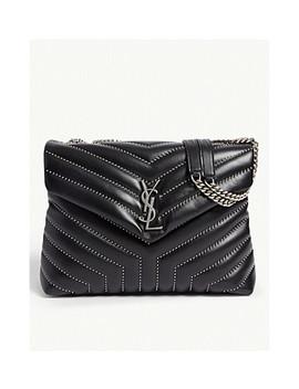 Loulou Medium Leather Shoulder Bag by Saint Laurent