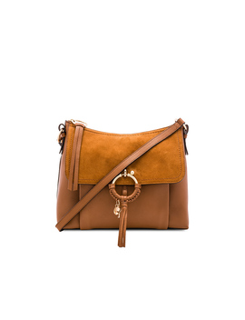 Joan Small Suede & Leather Shoulder Bag by See By Chloe