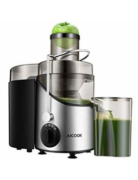 Juicer Juice Extractor, Aicook 3'' Wide Mouth Stainless Steel Centrifugal Juicer, Bpa Free, Non Slip Feet, Three Speed Juicer Machine For Fruits And Vegetable by Aicook
