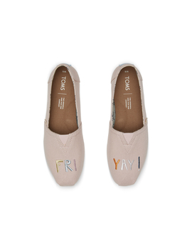 Rose Gold Embroidered Friyay Women's Classics by Toms