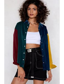Flying Colors Cord Shirt by Nasty Gal