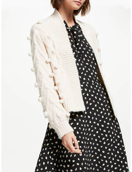 Somerset By Alice Temperley Bobble Cardigan, Natural by Somerset By Alice Temperley