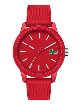 Men's 12.12 Red Silicone Strap Watch 42mm by Lacoste