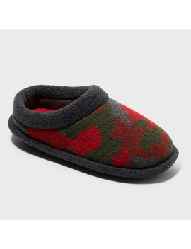 Boys' Dearfoams Camo And Fleece Clog by Dearfoams