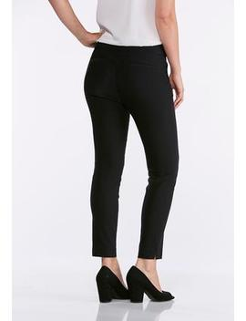Solid Stretch Ankle Pants by Cato