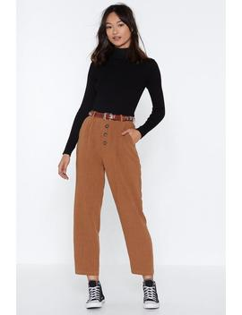Sooner Or Taper High Waisted Pants by Nasty Gal