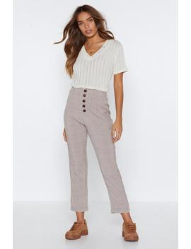 All Checks Welcome Button Pants by Nasty Gal