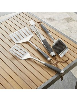 Wood Handled Grill Tools by Crate&Barrel