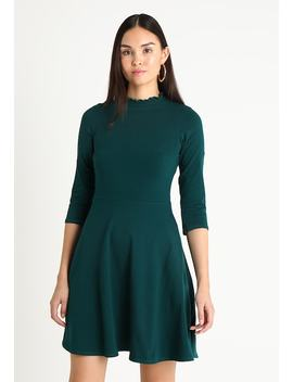 High Neck Fit And Flare Dress   Jerseyjurk by Dorothy Perkins