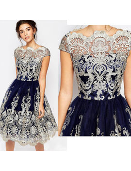 Women Lace Prom Floral Formal Evening Cocktail Party Bridesmaids Ball Gown Dress by Unbranded