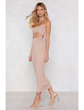 A Part Of You Bra Top And Midi Skirt Set by Nasty Gal