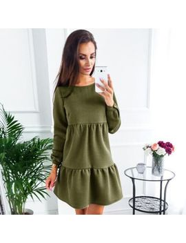 New Women's Summer Casual Long Sleeve Party Evening Cocktail Short Mini Dress by Unbranded