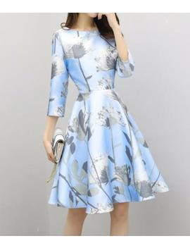 S 2 Xl Summer Women Floral A Line Crew Neck Tunic Party Club Skater Flare Dress by Supersellsn