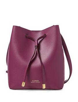 Leather Mini Drawstring Bag by Lauren Ralph Lauren