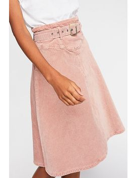 Belt It Up Cord Midi Skirt by Free People