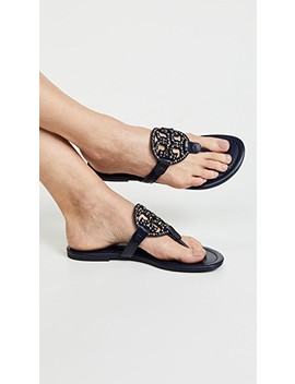Miller Embellished Thong Sandals by Tory Burch