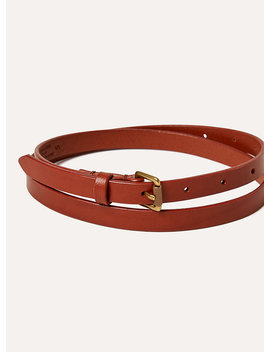 Skinny Leather Belt by Wilfred Free