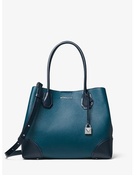 Mercer Gallery Medium Color Block Leather Satchel by Michael Michael Kors