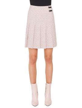 Pleated Tweed Skirt by Akris Punto