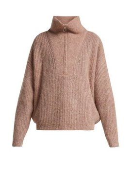 Cyclan Half Zip Mohair Blend Sweater by Isabel Marant Étoile
