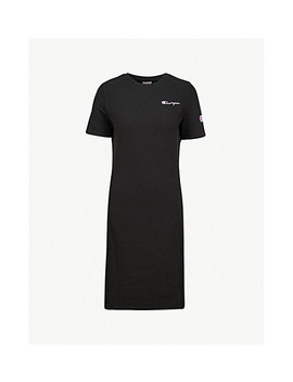 Logo Embroidered Cotton Jersey Dress by Champion