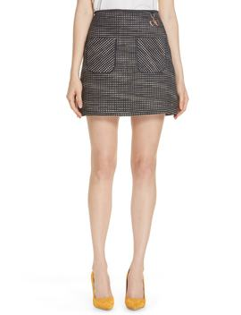 Shaula Colour By Numbers Bouclé Miniskirt by Ted Baker London