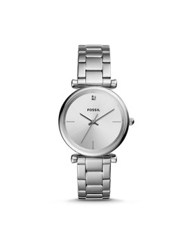 The Carbon Series Three Hand Stainless Steel Watch by Fossil