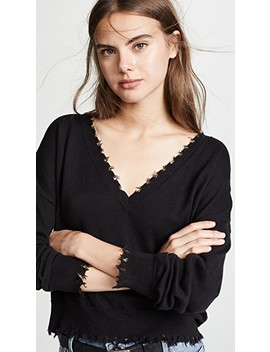 Jolie Boxy Ultra Deep V Sweater by Nation Ltd
