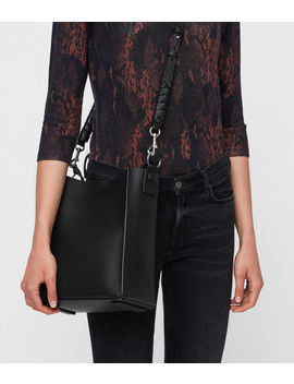 Voltaire Leather Small North South Tote by Allsaints