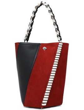 Whipstitch Trimmed Leather And Suede Shoulder Bag by Proenza Schouler