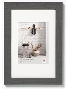Walther Design Ho045 D Home Wooden Picture Frame, 11.75 X 17.75 Inch (30 X 45 Cm), Grey by Walther
