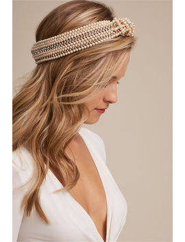Sirene Pearl Turban by Bhldn