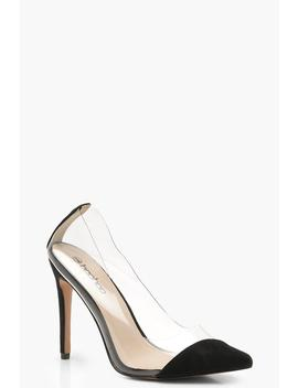 Asymmetric Clear Court Shoes by Boohoo