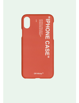 Quote Iphone X Case by Off White