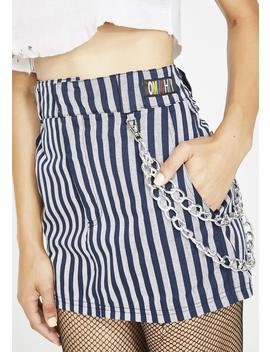 Work Stripes Chain Skirt by O Mighty